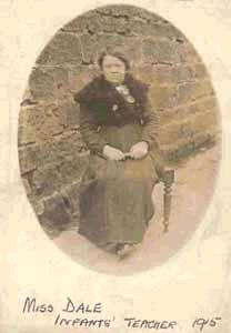 Infants teacher 1915 - Miss Dale