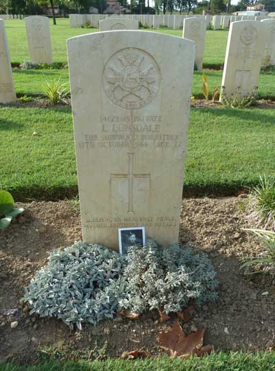 Leonard Lonsdale's Grave Assisi